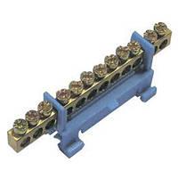 Шина нулевая на изоляторе на DIN рейку 10 отверстий
