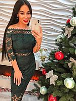 Женское платье кружевное, фото 1