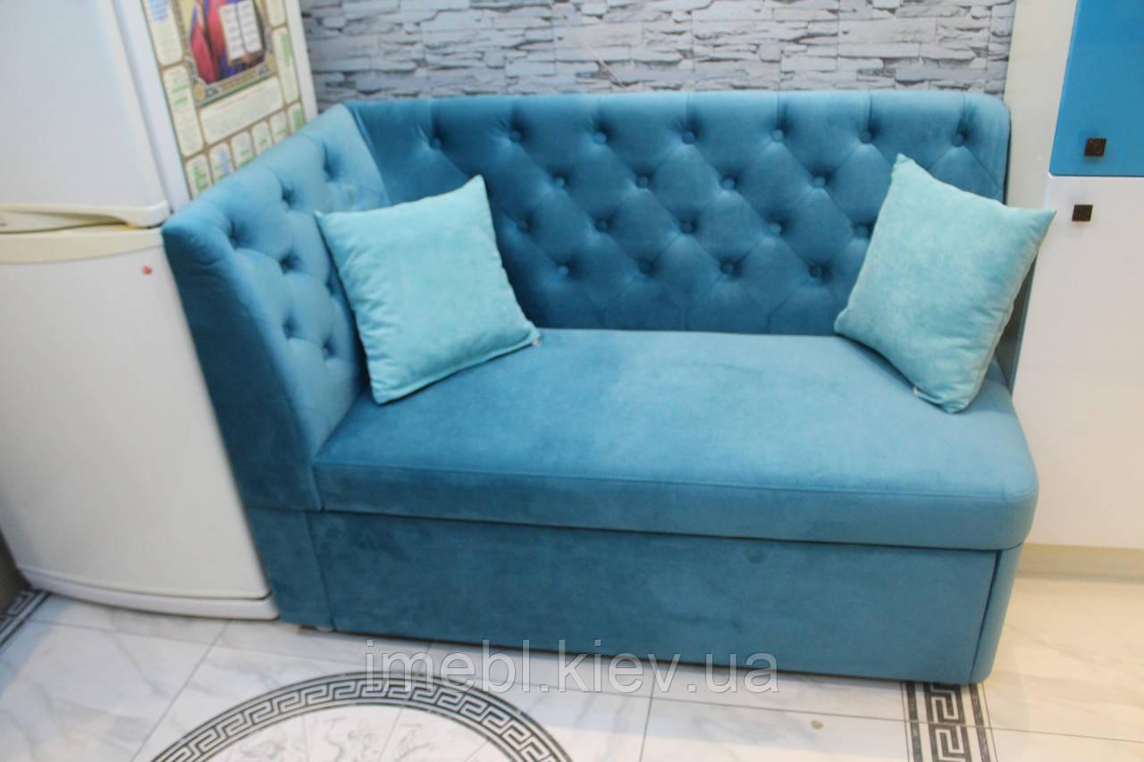 маленький диванчик со спальным местом для кухни бирюзовый цена 5