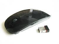 Супертонкая беспроводная радио мышь мышка, черная