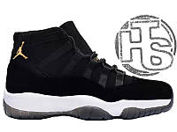 Женские кроссовки Air Jordan 11 XI Retro GG Black Velvet/White/Gold 852625-651