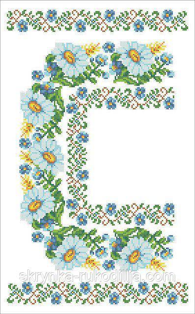 Водорозчинний пришивний флізелін з нанесеним малюнком 30х48см (Княгиня Ольга)