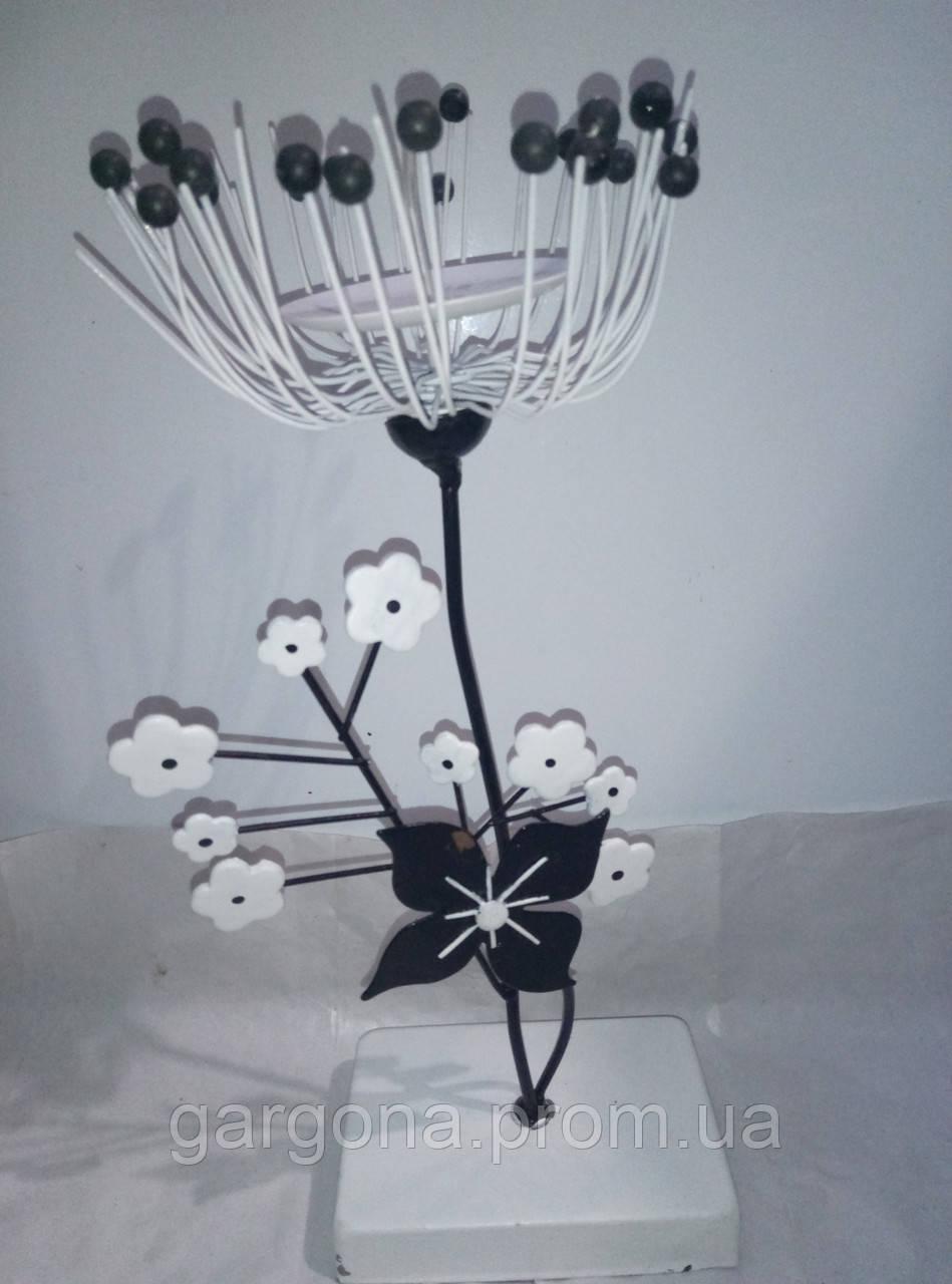Декоративный подсвечник в виде цветка, фото 1