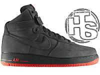Мужские кроссовки Nike Air Force 1 High VT Vac Tech Premium Winter Gray/Orange 472496-002