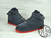 Чоловічі кросівки Nike Air Force 1 High VT Vac Tech Premium Winter Gray/Orange (з хутром) 472496-002, фото 3