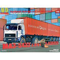 Седельный тягач МАЗ-5432 с полуприцепом-контейнеровозом МАЗ-938920 + сертификат на 50 грн в подарок (код 200-463831)