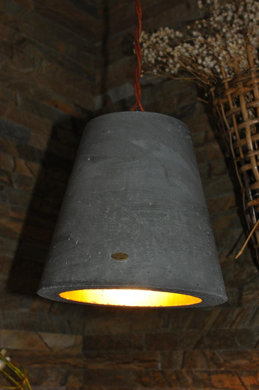 Підвісний бетонний світильник Campana grigia