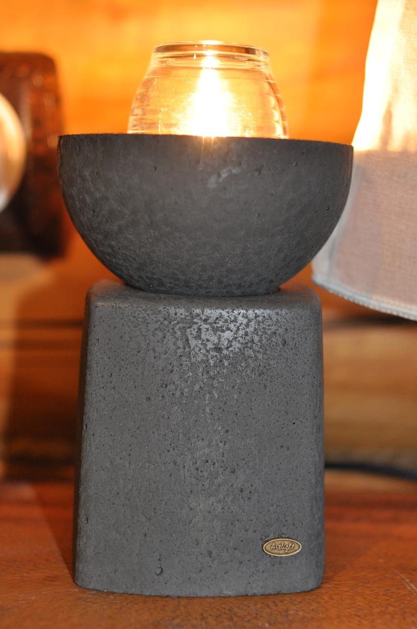 Бетонный настольный светильник Faro nero