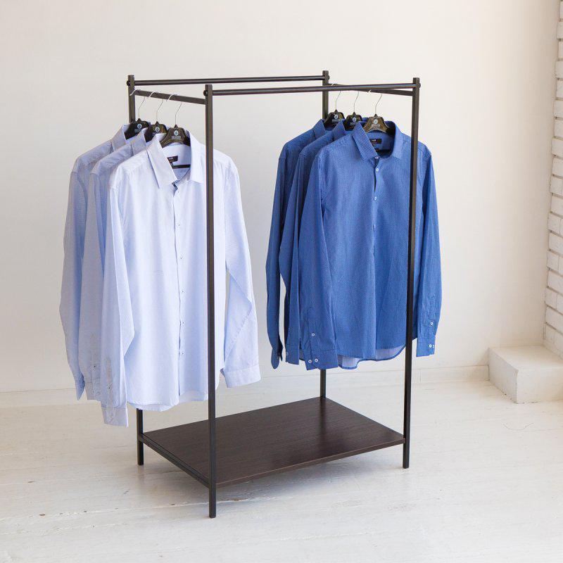 Стойка для одежды напольная лофт Платон 21
