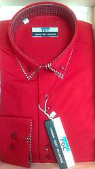 Мужская рубашка FGC приталенная спортивная solal красная
