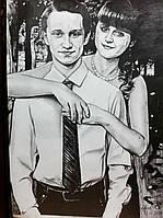Портрет карандашом с фотографии на подарок мужчине