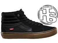 Мужские сникерсы Vans SK8-Hi Pro Black/Gum Winter (с мехом)