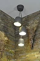 Подвесной бетонный светильник Fiori neri
