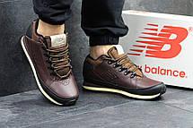 Мужские кроссовки New Balance 754 (термо),кожаные,темно коричневые 41,44, фото 3