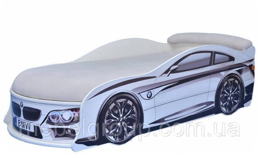 Кровать машина БМВ белая
