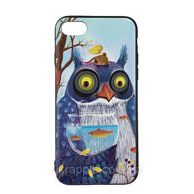 Чехол накладка для iPhone 7/8 Fairy Tails (TPU) №2 сова