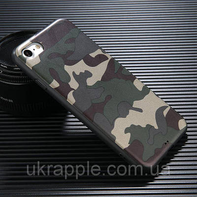 Чехол накладка на iPhone 7/8 силиконовый с камуфляжной раскраской №1