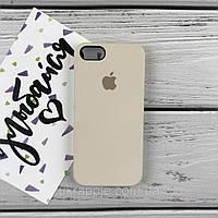 Чехол накладка на iPhone 5/5s/se Silicone case молочный (3)