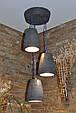 Підвісний бетонний світильник Piccole campane nere, фото 3