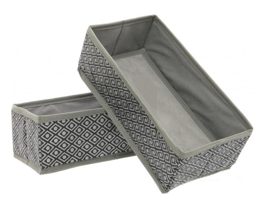 Кофр - короб - органайзер 2 штуки Silver
