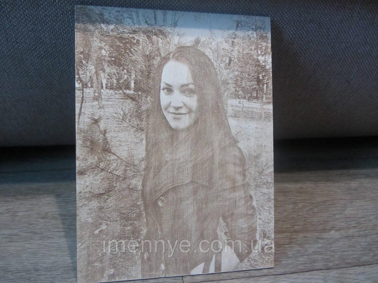 Резка и гравировка по дереву на подарок девушке выжигание фотографии на фанере