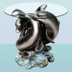 Скляний журнальний стіл (кавовий столик) Гармонія