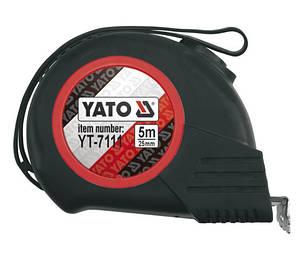 Рулетка будівельна (вимірювальна) 25мм х 5м YATO YT-7111, фото 2