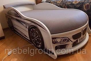 Кровать машина БМВ белая, фото 3