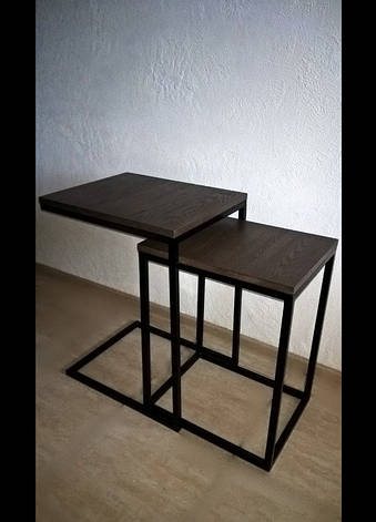 Столик журнальный Лофт дсп, комплект столиков в стиле лофт 9, фото 2