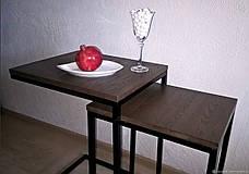 Столик журнальный Лофт дсп, комплект столиков в стиле лофт 8, фото 3