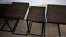 Столик журнальный Лофт дсп, комплект столиков в стиле лофт 8, фото 2
