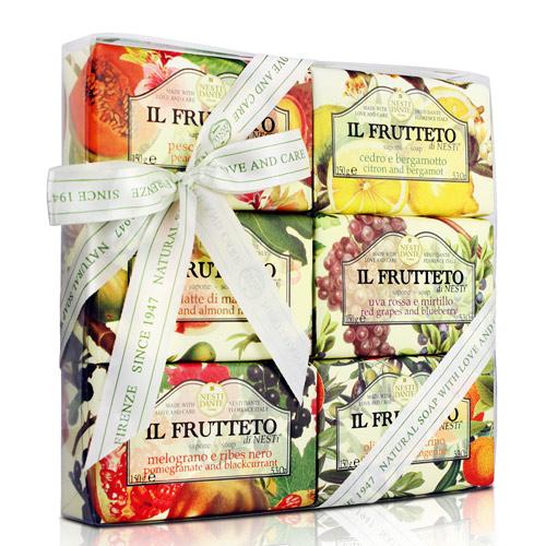 Подарочный набор мыла Nesti Dante Il Frutteto Фруктовый сад 150г*6шт. Подарок на новый год.