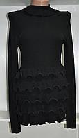 Платье осень весна с длинным рукавом  воланы, фото 1