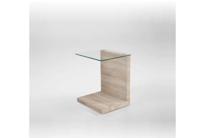 Журнальный столик консоль из дсп со стеклом  11 дсп