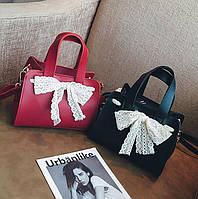 Романтичные мини сумочки с вязанным бантиком