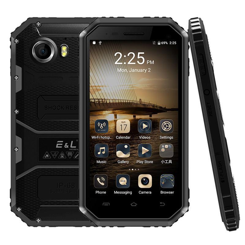 Смартфон E & L w6s, ip68, Android 7.0, камера 8Мп, аккумулятор 2600mah