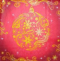 Салфетка декупажная Новогодние шарики 3741