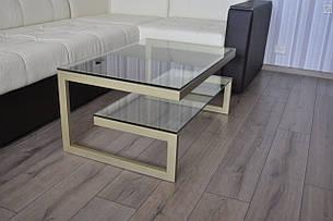 Журнальный столик консоль  со стеклом  13 дсп, фото 2