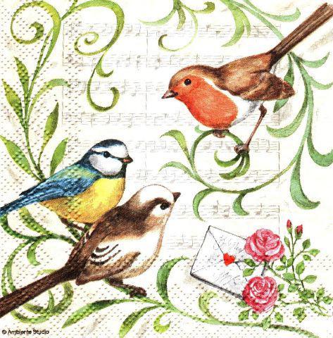 Салфетка декупажная Птица 3796