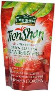 Чай зеленый китайский байховый с клубникой  Тянь Шань , 80 гр