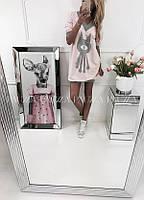 Молодежное Платье женское-Туника снизу резинка Универсал Польша