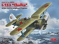 Советский истребитель-биплан Поликарпов И-153 Чайка, II МВ (ICM48095)