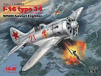 Советский истребитель Поликарпов И-16 тип 24 (ICM48097), фото 1