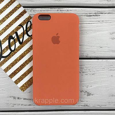 ЧехолнакладканаiPhone6 plus/6splusSiliconecaseабрикосовый(10)