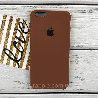 ЧехолнакладканаiPhone6 plus/6splusSiliconecaseкоричневый(22)