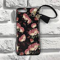 ЧехолнакладканаiPhone7 Plus/8plusAllinonecase(TPU)№1черныйцветы