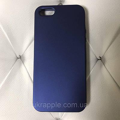 Чехол накладка на iPhone 5/5s/se Soft matt синий