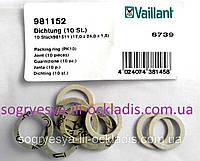 Прокладки картонные 17 мм*3,5 мм*1,5 мм (комплект 10 шт, фир.уп) котлов Vailant, арт.981152, к.с.0950
