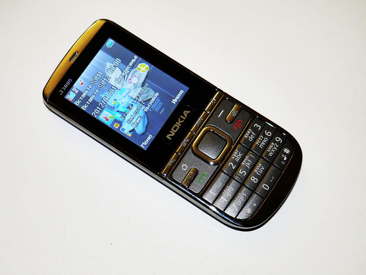 """Телефон Nokia J3000 - 2sim - 2,4"""" - Fm - Bt - Camera - металлический корпус"""