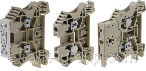 Винтовые клеммы Weidmuller WDU 6 GN 1020290000 W-серии